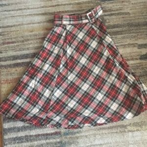 H&M Red/Plaid Circle Skirt. Like new, barely worn.